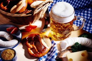 Bavarian meal and a glass of beer